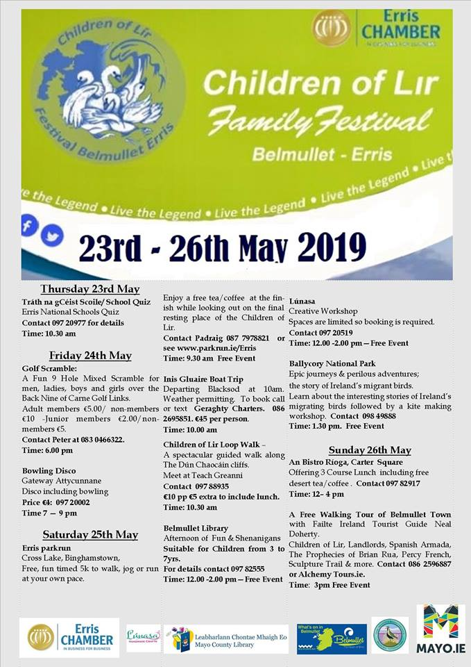 events taking place on children of lir festival